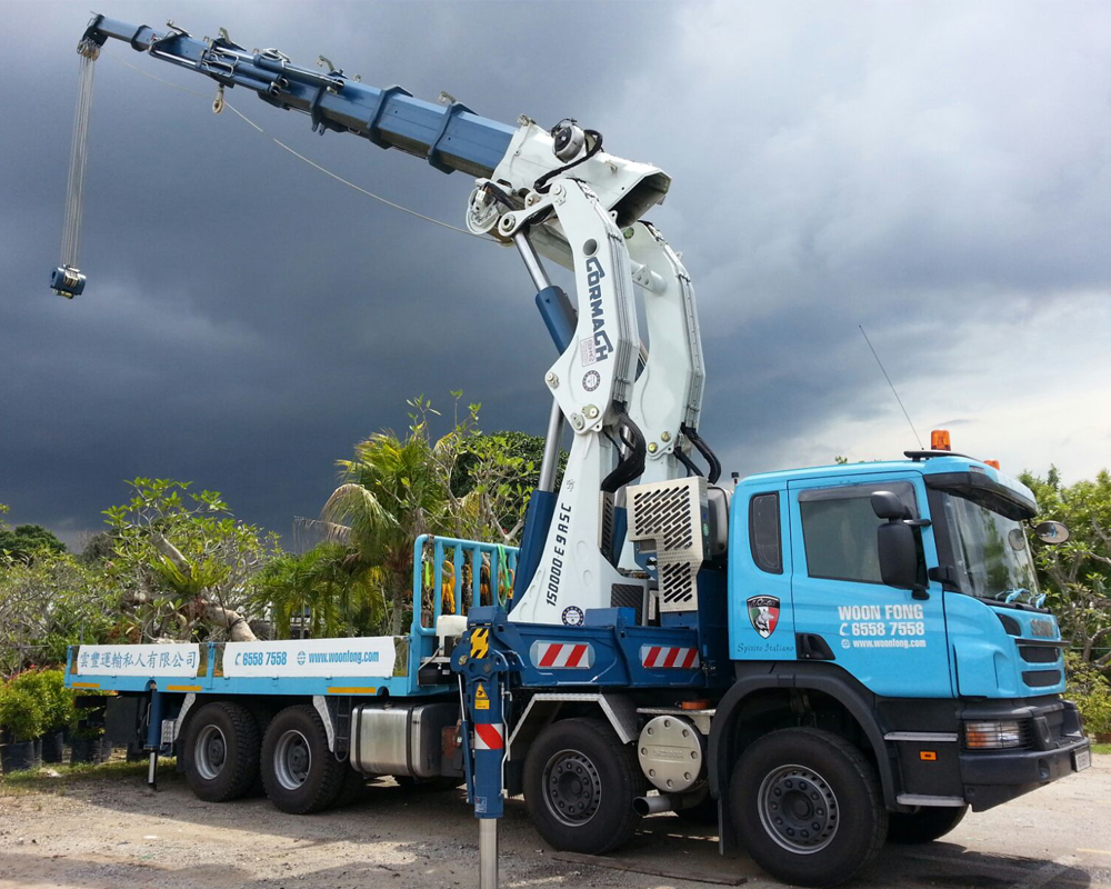 Woon Fong Transport Pte Ltd Lorry Crane Call 65587558 Now